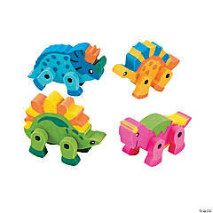 Dinosaur Movable Erasers - 12 Pc.