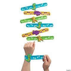 Dinosaur Slap Bracelets with Charm