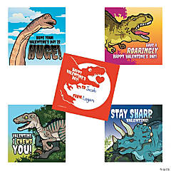 Dinosaur Valentine's Day Sticker Sheets