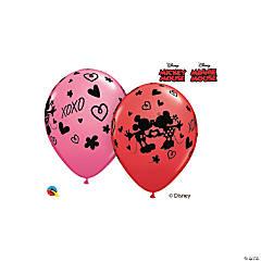 "Disney® Mickey & Minnie XOXO 11"" Latex Balloon Assortment"