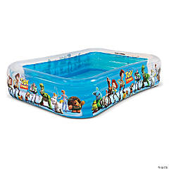 Disney Pixar Toy Story 8x6 Inflatable Pool by GoFloats - Inflatable Swimming Pool for Kids and Adults
