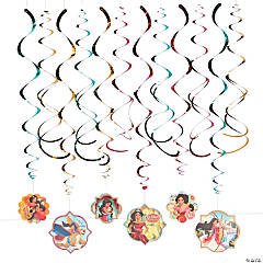 Disney's Elena Hanging Swirl Decorations - 12 Pc.