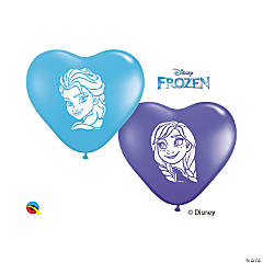 "Disney's Frozen™ Anna & Elsa 6"" Latex Heart Balloons"