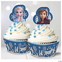 Disney's Frozen II Glitter Cupcake Kit for 24