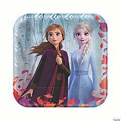 Disney's Frozen II Square Paper Dinner Plates