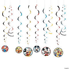Disney® Mickey on the Go Hanging Swirl Decorations - 12 Pc.