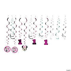 Disney® Minnie's Fun To Be One Hanging Swirl Decorations - 12 Pc.