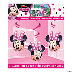Disney's Minnie Mouse Hanging Swirl Decorations - 3 Pc.