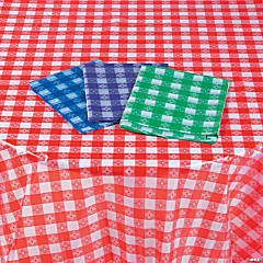 Disposable Checkered Tablecloth Assortment