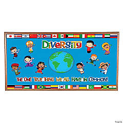 Diversity in Common Multicultural Bulletin Board Set