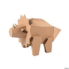 DIY 3D Triceratops Dinosaur Stand-Up