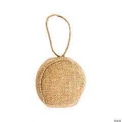 DIY Burlap Ball Ornaments