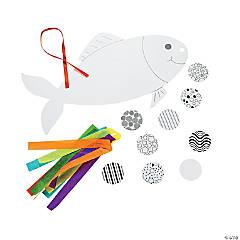 DIY Cardboard Japanese Fish Mobiles