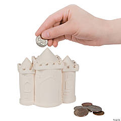 DIY Ceramic Princess Castle Banks