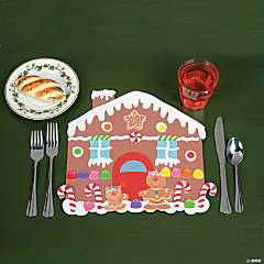 DIY Foam Gingerbread House Placemats