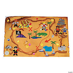 DIY Giant Pirate Treasure Map Sticker Scenes