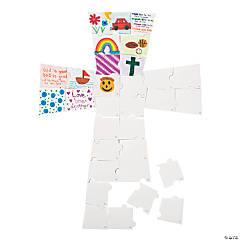 DIY Giant Puzzle Cross Bulletin Board Cutout