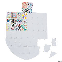 DIY Giant Puzzle Dreidel Bulletin Board Cutout