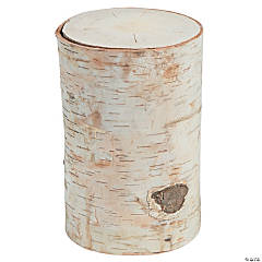 DIY Large Round Birch Pillar with Bark