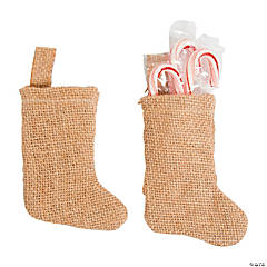 DIY Mini Burlap Stockings