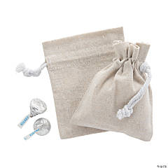 DIY Mini Canvas Drawstring Bags - 12 pcs.