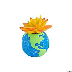 DIY Mini Ceramic Earth Planters