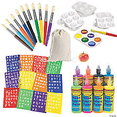 DIY Paint Your Own Backpack Kit