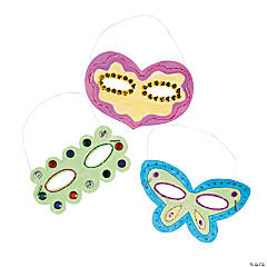 DIY Paper Shaped Masks - 48 pcs.