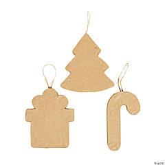 DIY Papier-Mâché Christmas Ornaments