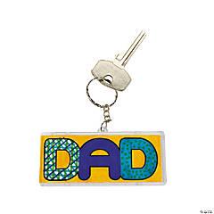 """DIY Plastic """"Dad"""" Keychains"""