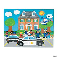 DIY Police Sticker Scenes