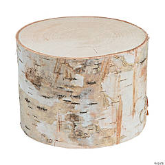 DIY Small Round Birch Pillar with Bark