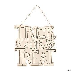 DIY Trick-or-Treat Sign Halloween Decoration Craft
