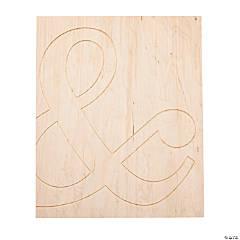 DIY Unfinished Wood Ampersand Sign