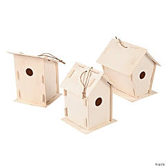 DIY Unfinished Wood Birdhouses