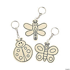 DIY Unfinished Wood Bug Key Chains