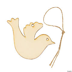 DIY Unfinished Wood Christmas Dove Ornaments
