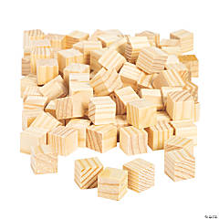 DIY Unfinished Wood Cubes