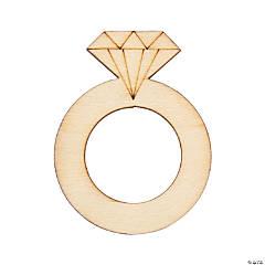 DIY Unfinished Wood Diamond Ring Shapes