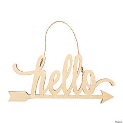 DIY Unfinished Wood Hello Sign