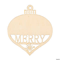 DIY Unfinished Wood Merry Cutout Gift Tags