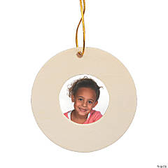 DIY Unfinished Wood Round Picture Frame Ornaments