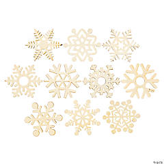 DIY Unfinished Wood Snowflakes