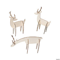 DIY Unfinished Wood Standing Reindeer
