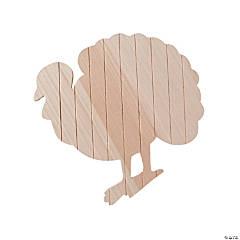 DIY Unfinished Wood Turkey Plank Sign