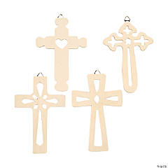 DIY Unfinished Wood Wall Crosses