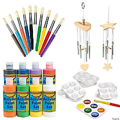 DIY Unfinished Wood Wind Chimes Boredom Buster Kit