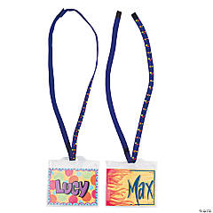 DIY Vinyl Super Safe Name Tags with Breakaway Cords - 48 pcs.
