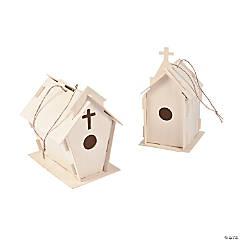 DIY Wood Beautiful Church Birdhouses