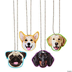 Dog Face Dog Tag Necklaces